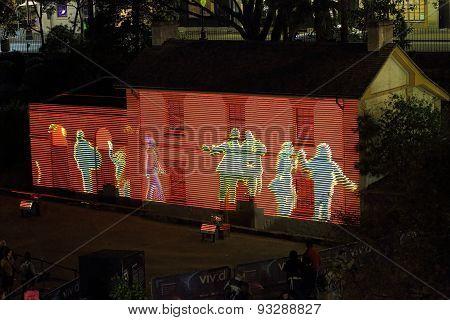 Cadmans Cottage In Lights Vivid Sydney