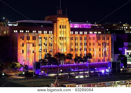 Vivid Sydney Lights On Museum Of Contemporary Art Building