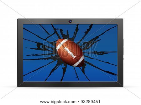 Cracked Tablet American Football
