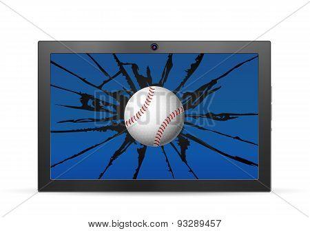 Cracked Tablet Baseball