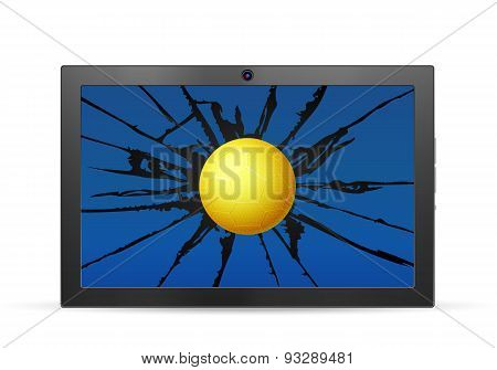 Cracked Tablet Handball