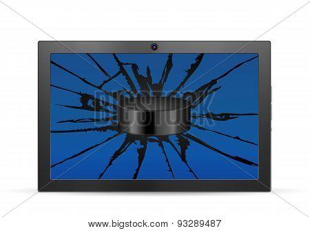 Cracked Tablet Hockey
