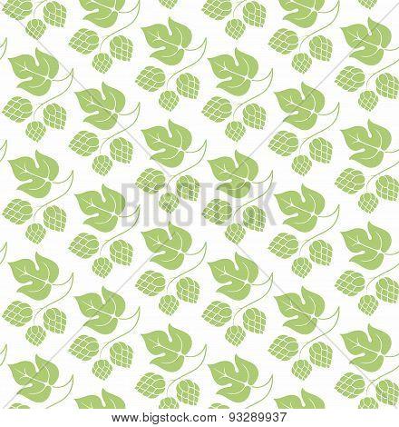 Green Hop Leaf Pattern