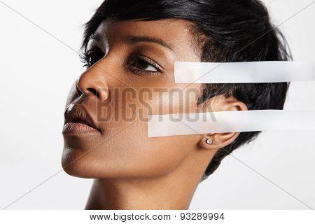 Facelift, Black Woman, Facial Treatment