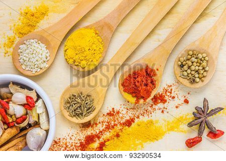 The Spices Mix For Design Or Decorate Project.