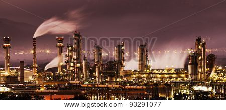 chemical industry in Tarragona Spain Industry and factories backgrounds