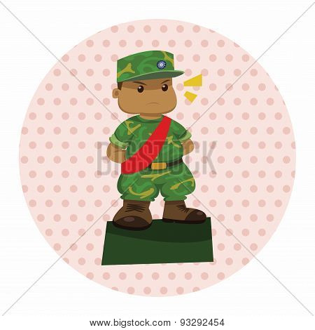 People Theme Soldier Elements Vector,eps