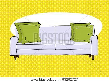 Empty Loveseat Over Yellow