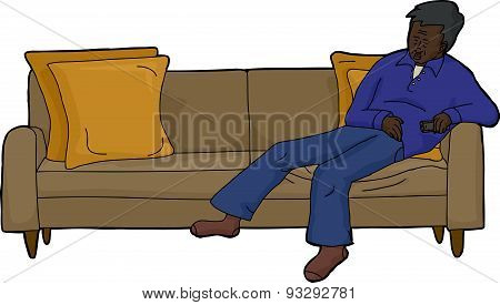 Person Asleep On Couch