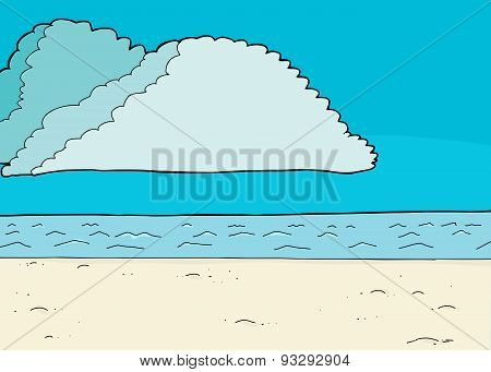 Cumulonimbus Clouds In Blue Sky