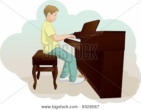 Children And Piano