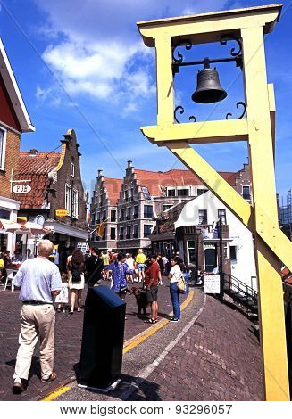 Quayside street, Volendam.