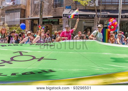 Pride Parade In Tel Aviv 2015 .