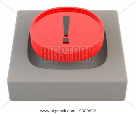 Red button with exclamation sign
