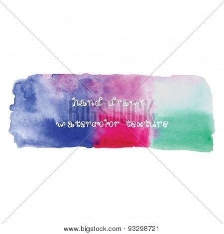 Hand drawn watercolor vector texture.