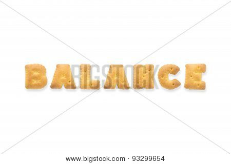 The Letter Word Balance Alphabet  Cookie Crackers