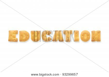 The Letter Word Education Alphabet  Cookie Crackers