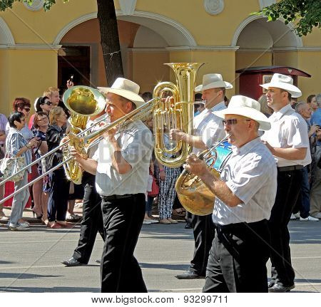 Brass Band On The Street Parade