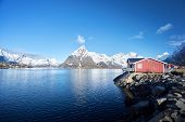 stock photo of reining  - Fishing hut at spring day  - JPG