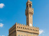image of piazza  - Palazzo Vecchio in Piazza della Signoria in Florence Tuscany Italy  - JPG