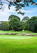 image of mayan  - Beautiful golf course on mayan riviera in Mexico - JPG