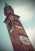 foto of vicenza  - high tower in the main square in the VICENZA an italian city - JPG
