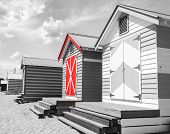 stock photo of beach hut  - Bathing houses at Brighton Beach Australia - JPG