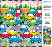image of ten  - Spring or summer traffic jam picture puzzle - JPG