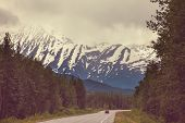 image of backwoods  - highway on Alaska - JPG