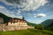 picture of holy-spirit  - Holy spirit church Javorca in Slovenian alps a memorial of first world war - JPG