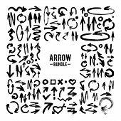 Vector Brush Stroke Arrow Collection poster