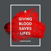 image of blood  - Creative Donate blood motivation information donor poster - JPG