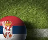 picture of serbia  - Serbia ball on green grass background - JPG