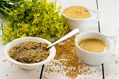 stock photo of mustard seeds  - Different types of mustard - JPG