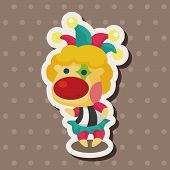 pic of circus clown  - Circus Clown Theme Elements - JPG