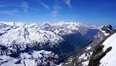 foto of tit  - scenery of snow mountains valley Titlis Engelberg Switzerland - JPG