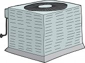 picture of refrigerator  - Isolated metal air conditioner with refrigerant tubing - JPG