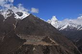 picture of sherpa  - Phortse Sherpa village on the way to Everest Base Camp Ama Dablam - JPG