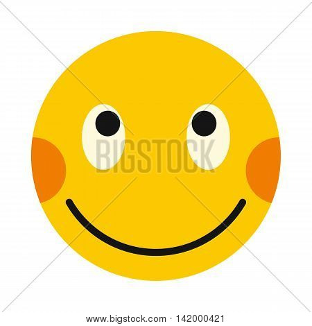 Embarrassing smiley icon in flat style isolated on white background. Facial expressions symbol