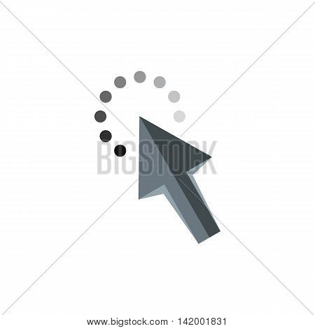 Cursor arrow waiting icon in flat style isolated on white background. Computer and internet symbol