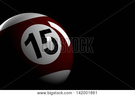 Pool Ball Number 15, 3D Rendering