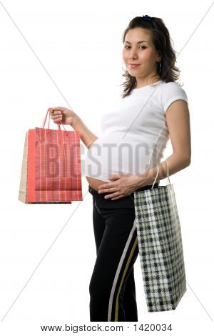 Prengnant Woman Shopping
