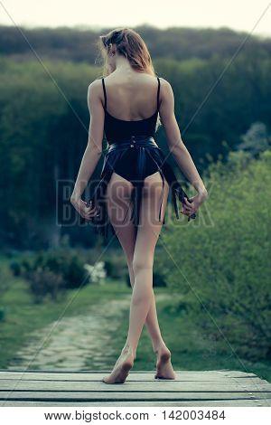 Sexy Barefoot Woman
