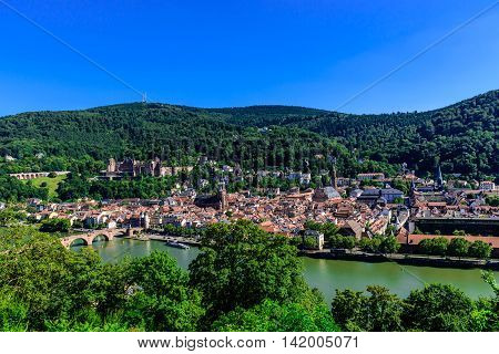The historic town of Heidelberg in Germany.