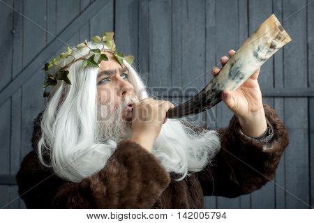 Zeus Man With Horn