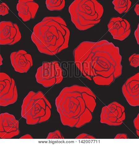 stock vector seamless floral pattern for printing on paper fabric. rose ornament