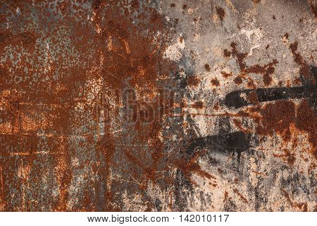 Rusted metal texture. Grungy textured background - Abstract rust surface