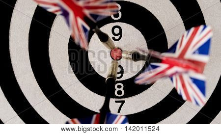 Darts. How many do not throw all the same you get into the center.