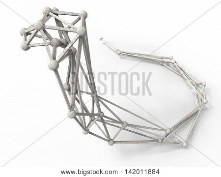 3D Render Illustration Of Cobra Structure