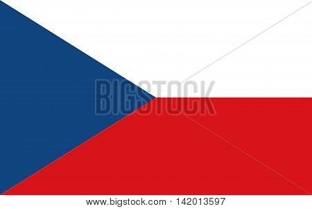 Flag of the Czech Republic czech, flag, vector, national, symbol, nation, illustration, icon, frame